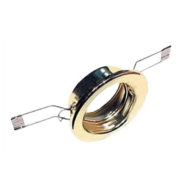 Svietidlo podhľadové pevné zlaté pre žiarovku 50mm