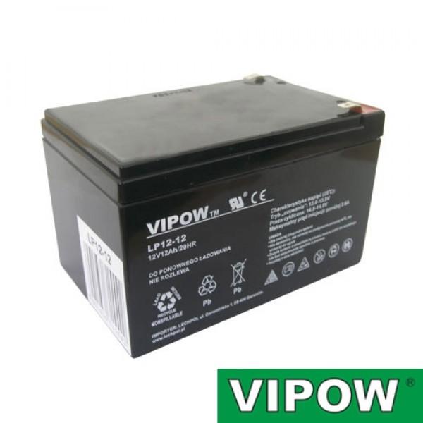 Batéria olovená 12V/12Ah VIPOW bezúdržbový akumulátor