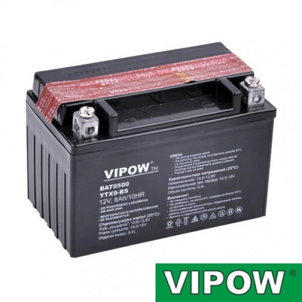 Batéria motocyklová 12V 8Ah Vipow motobatéria
