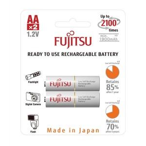 Batéria HR-3UTCEX-2B WHITE AA 2x FUJITSU nabíjacia