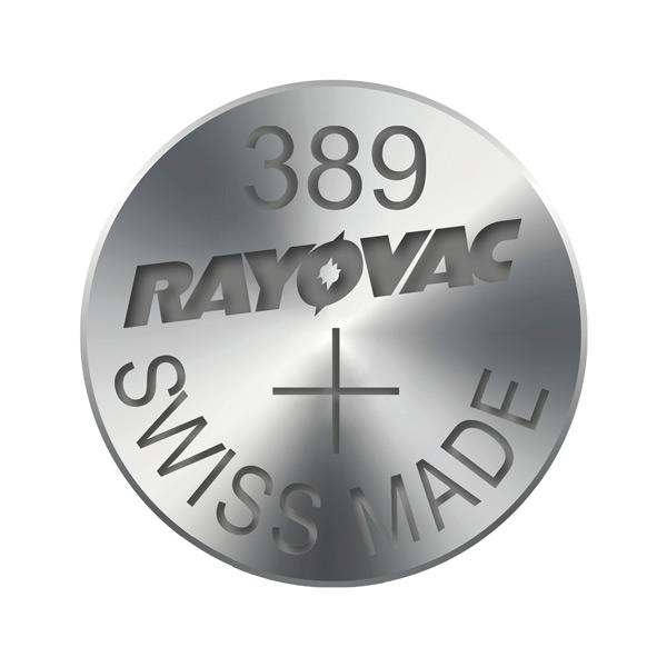 Gombíková batéria do hodiniek RAYOVAC 389