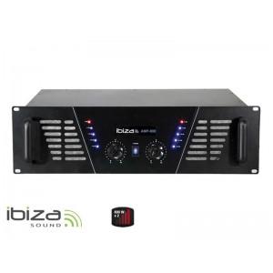 Zosilňovač IBIZA 2x600W AMP800 čierny