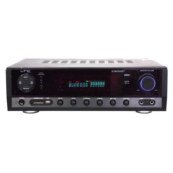 Zosilovač LTC ATM6500BT, Bluetooth, Karaoke, 2x50W + 3x 20W