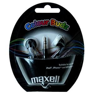 Slúchadlá Maxell 303483 Colour Budz Black
