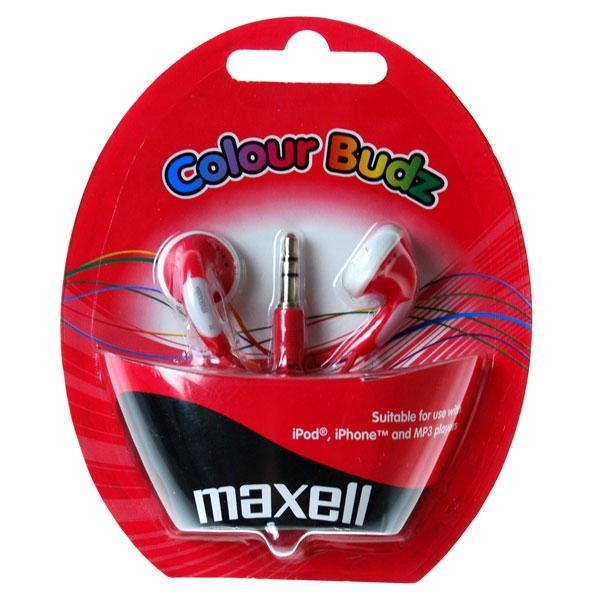 Slúchadlá Maxell 303365 Colour Budz Red