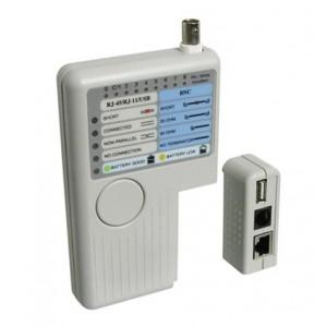 Tester káblov CAT, USB, BNC line tester