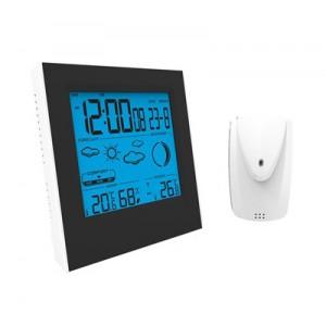 Meteostanica, čiernobiely displej, modré podsvietenie, vnútorná/vonkajšia teplota a vlhkosť TE83