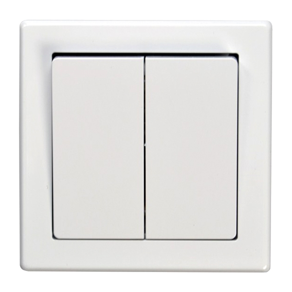 Vypínač Jowa č. 5 sériový - lampový biely