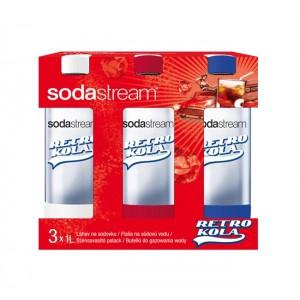 Sodastream fľaša Tripack 1l RETRO KOLA