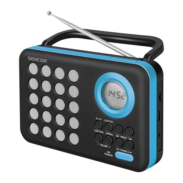 Rádioprijimač SENCOR SRD 220 BBU s USB MP3
