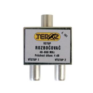 Antenný rozbočovač 2TV IEC (feritový) Teroz
