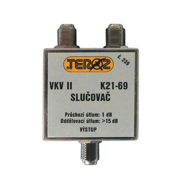 Anténny zlučovač pásmový VKV II+K21-60 F-F Teroz