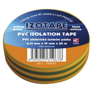 Izolačná páska PVC 19 20m zelenožltá